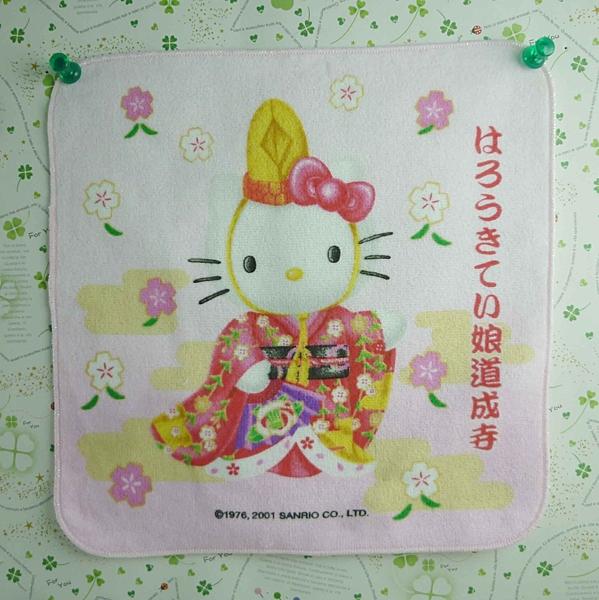 【震撼精品百貨】Hello Kitty 凱蒂貓~方巾-限量款-歌舞姬-娘道成寺