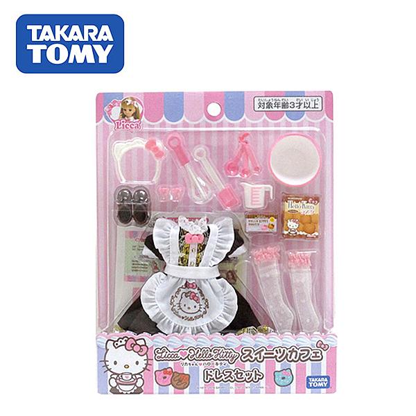 【日本正版】莉卡娃娃 x 凱蒂貓 甜點配件組 莉卡配件 Hello Kitty 莉卡甜點裝 Licca TAKARA TOMY 117193