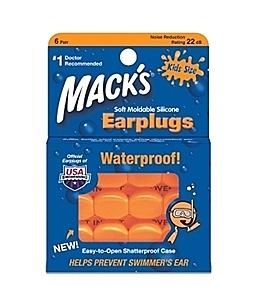 兒童游泳耳塞 美國製造第一品牌Mack's軟質防水.防噪矽膠 6組