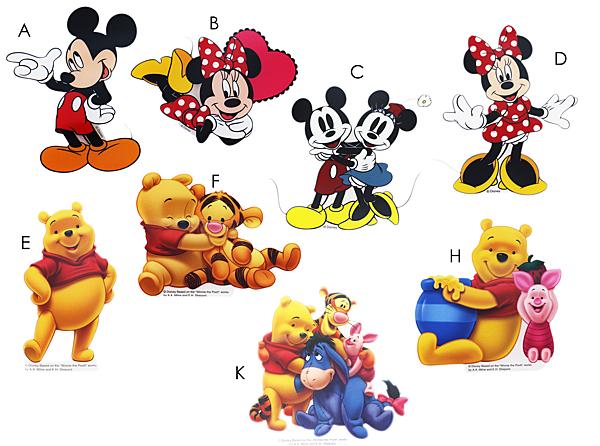 【卡漫城】 迪士尼 防水貼紙 任選二張 ㊣版 小熊維尼 米奇 米妮 Pooh Mickey Minnie 跳跳虎 小豬