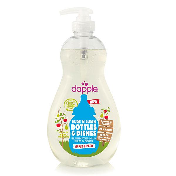 美國 Dapple 天然奶瓶及餐具清潔液 500ML-蘋果甜梨(奶瓶清潔劑)