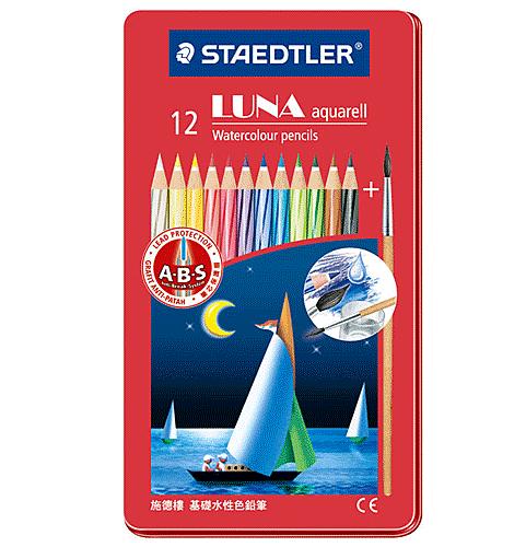 德國施德樓LUNA水性色鉛筆鐵盒12色*MS137