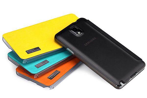 note 3 免運 ROCK雅系列 三星Note3手機套皮套 n9000保護套 n9008手機殼(任選二個$900)
