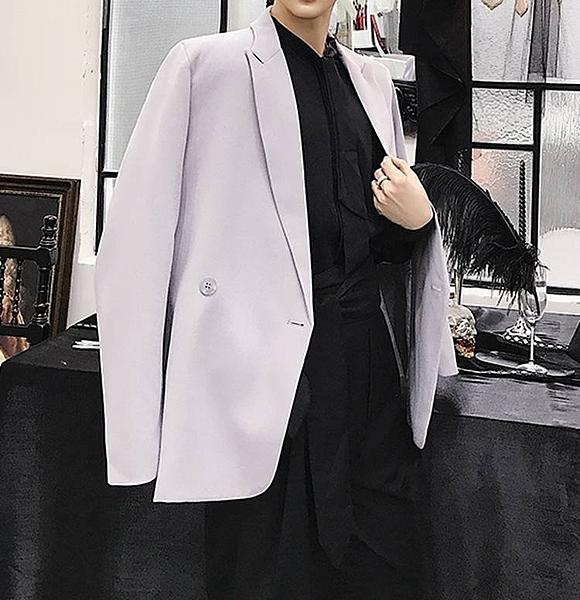 FINDSENSE G6 韓國時尚 設計師百搭寬鬆氣質雙排扣西裝外套