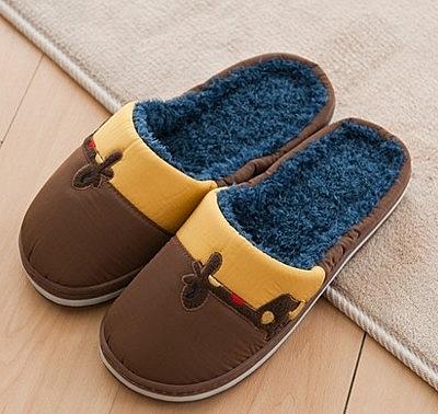 秋冬 日式 短款 拖鞋 居家 跟厚底防滑保暖