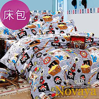 【Novaya‧諾曼亞】《航海寶藏》絲光綿單人二件式床包組