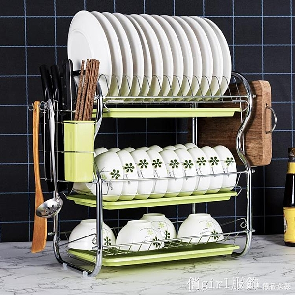 廚房置物架家用碗碟放碗架收納架裝碗筷收納箱洗碗池瀝水架收納盒 開春特惠 YTL