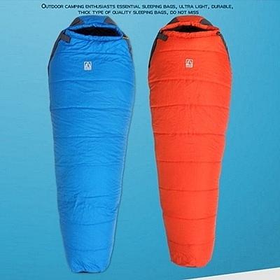 睡袋(單人)快速收納-超輕耐用加厚型防寒保暖登山用品2色71q15【時尚巴黎】