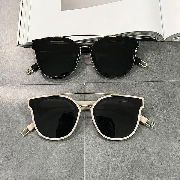 2020新款百搭雙梁複古大框圓臉男女海洋片太陽鏡網紅同款個性墨鏡 店慶降價
