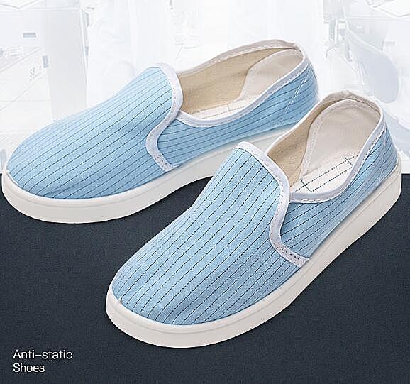 防靜電鞋無塵鞋加厚軟底白藍色車間潔凈鞋男女工廠工作鞋防塵鞋子 格蘭小舖 全館5折起