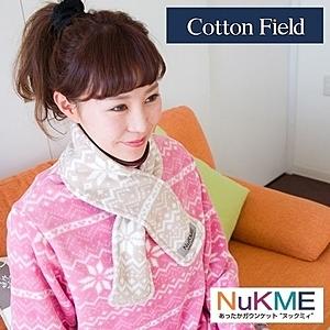 棉花田【NuKME】時尚圍脖保暖巾-29色可選海藍色