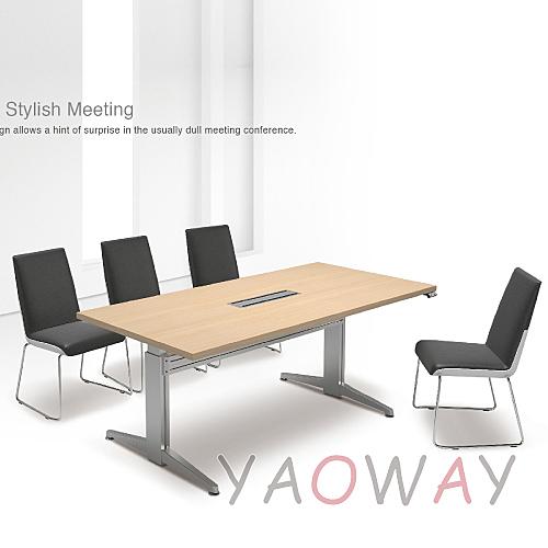 【耀偉】 六人電動會議桌(規格色)180X90桌面 二桌腳 (電動升降桌/辦公桌/電腦桌/主管桌)