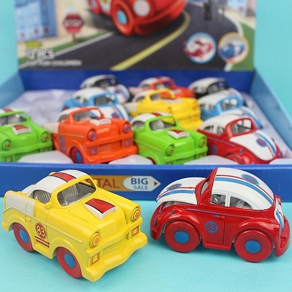 摩輪合金警車 0783-111 2款迴力合金警車/一個入{促120} Q版警車玩具(真環保不必用電池喔)-生