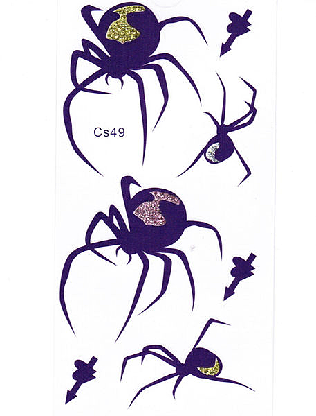 薇嘉雅        超炫蜘蛛圖案紋身貼紙 CS49