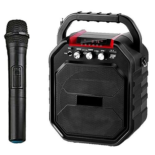 大聲公樂樂型無線式多功能手提行動音箱/喇叭 (單手持麥克風)