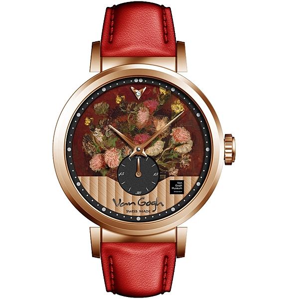 梵谷Van Gogh Swiss Watch小秒盤梵谷經典名畫女錶 C-RLLV-19 花