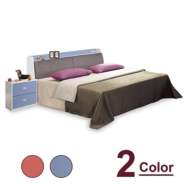 【時尚屋】[CV9]泰倫斯5尺雙人床CV9-28-1+WG28-1-5兩色可選/不含床頭櫃-床墊/免運費/免組裝/臥室系列