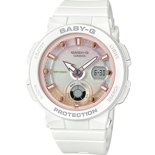 CASIO卡西歐BABY-G海洋風格運動腕錶  BGA-250-7A2  白x粉