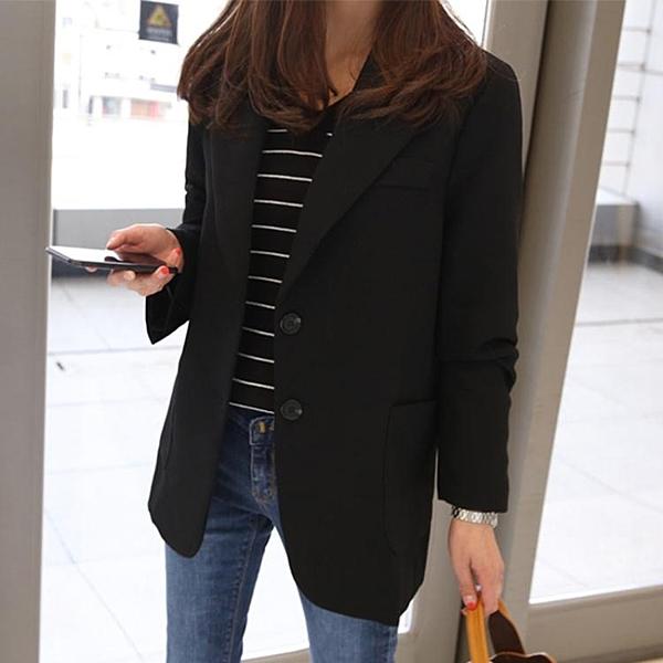 西裝外套 小西裝女好康推薦快速出貨春秋女士西服長袖正韓修身顯瘦短版外套
