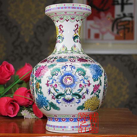 陶瓷  工藝品 夜光 花瓶