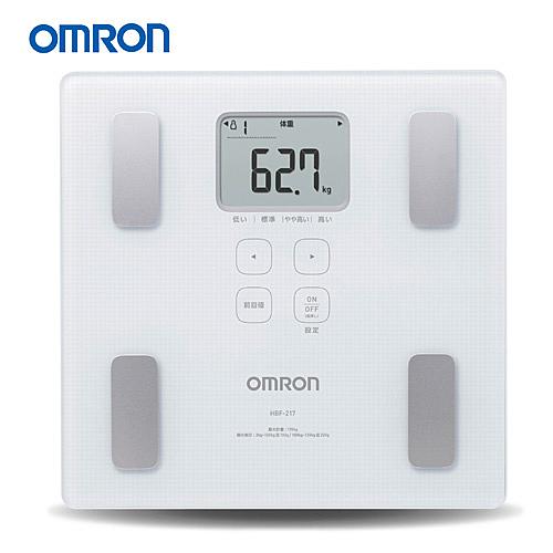OMRON 歐姆龍體脂計 HBF-217(白色)-(贈皮脂夾)-HBF-214進階版