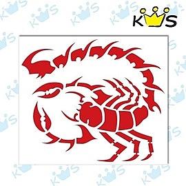 【收藏天地】防水防曬*安全帽 汽機車 萬用貼-長尾毒蠍(紅)