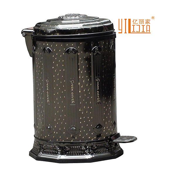 品牌特賣 歐式垃圾桶複古(黑滿天星)