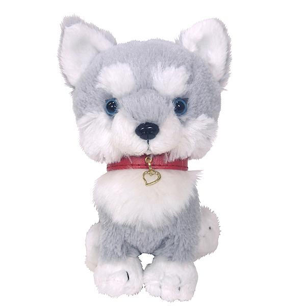 日本PUPS可愛玩偶 哈士奇 仿真小狗 絨毛娃娃公仔毛絨玩具狗聖誕節禮物狗雜貨生日禮物小孩送禮