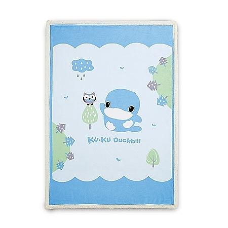 【愛吾兒】酷咕鴨 Ku.Ku 寶寶童毯-藍/粉