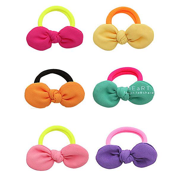 可愛立體布藝蝴蝶結髮圈 兒童髮飾 頭髮造型用品 髮圈