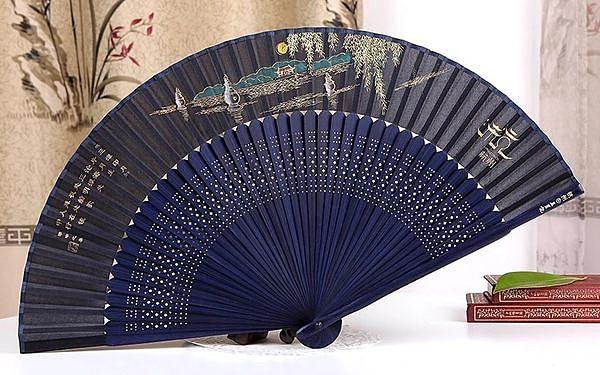 中國風女式真絲絹扇 4