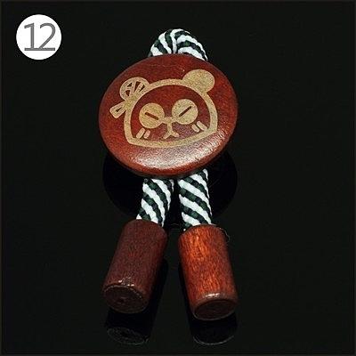 時尚原宿木質徽章胸針
