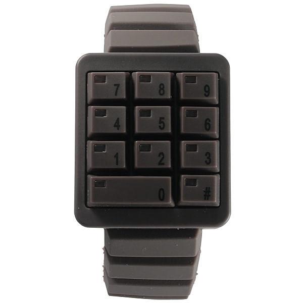 CLICK 創意爆破數字鍵盤個性腕錶(咖啡)