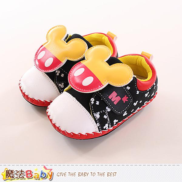 寶寶鞋 迪士尼米奇正版真皮中底專櫃款 魔法Baby