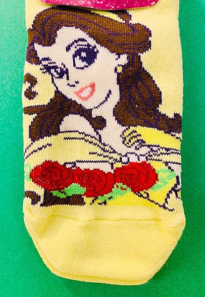 【震撼精品百貨】美女與野獸貝兒_Belle~迪士尼公主貝兒兒童用襪子-黃#64079