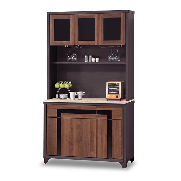 餐櫃【時尚屋】[G17]尼克絲鐵刀4尺石面碗盤櫃組G17-A290-3免組裝/免運費/餐櫃