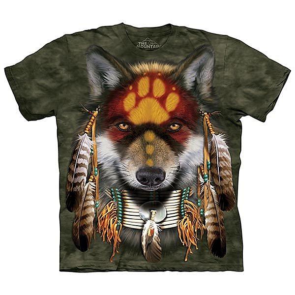 【摩達客】(預購)美國進口The Mountain 聖靈狼 純棉環保短袖T恤(10415045029)