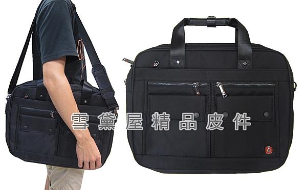 ~雪黛屋~SPYWALK 文件包大容量可A4資料夾電腦主袋+外袋共八層二層主袋防水尼龍布附長背帶SD1750