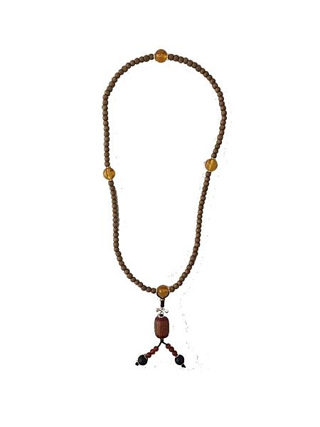 【如意檀香】【時尚惠安沉珠】拜拜 誦經 用品 佛珠 項鍊 F04T1905