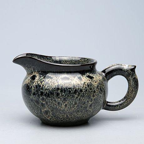 紫砂古陶彩釉公道杯 分茶器茶海奶杯