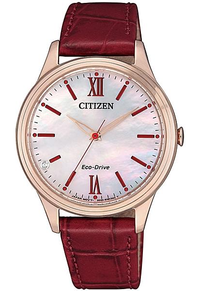 【刷卡分期零利率】CITIZEN光動能時尚女錶 EM0413-17D 34.0mm 台灣星辰公司保固兩年