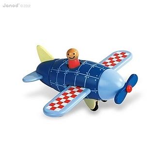 【法國Janod】磁性拼裝積木-螺旋槳飛機 J05205 /組