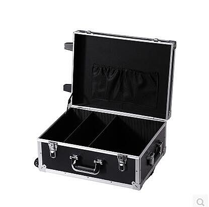 帶拉桿式鋁合金工具箱設備 多功能維修航空箱 五金儀器收納箱【大號】