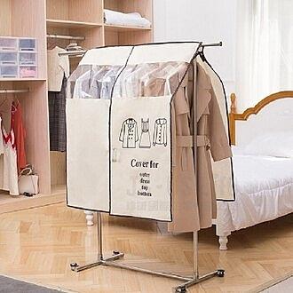 免運【用昕】居家衣物防塵大衣罩~4色可選(約90*110cm)/防塵罩