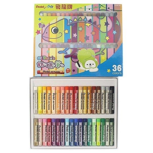 PENTEL 飛龍牌 PHN9-36 36色粉蠟筆/一箱12盒入(定100) 飛龍牌粉腊筆