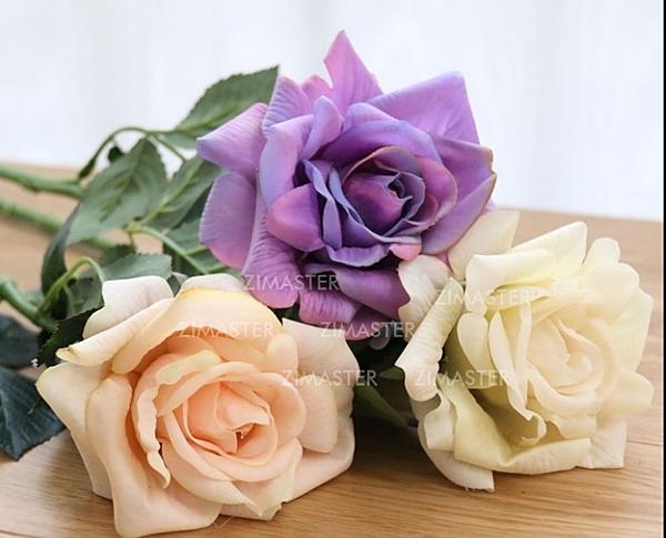 [協貿國際]單枝手感玫瑰/仿真花/超仿真裝飾花/美式鄉村軟飾品