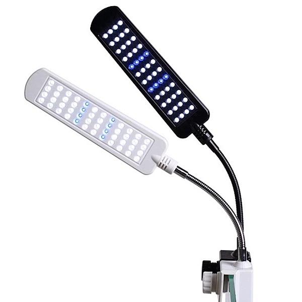 魚缸夾燈 魚缸夾燈水族箱草缸海水LED照明燈迷你烏龜缸燈led全光譜水草架燈 MKS免運