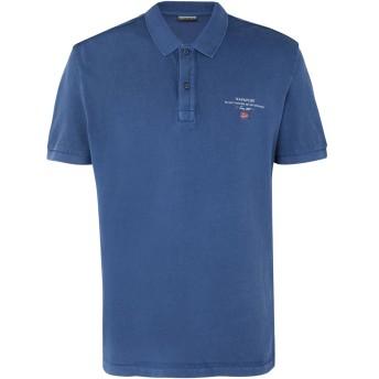 《セール開催中》NAPAPIJRI メンズ ポロシャツ ブルー S コットン 100% ELBAS 2