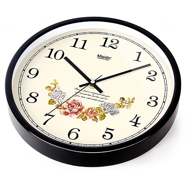 [超豐國際]靜音歐式鐘表掛鐘客廳臥室時尚創意大掛表現代時鐘石1入