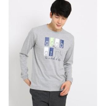 アダバット アダバットロゴ長袖Tシャツ メンズ ライトグレー(911) 48(L) 【adabat】